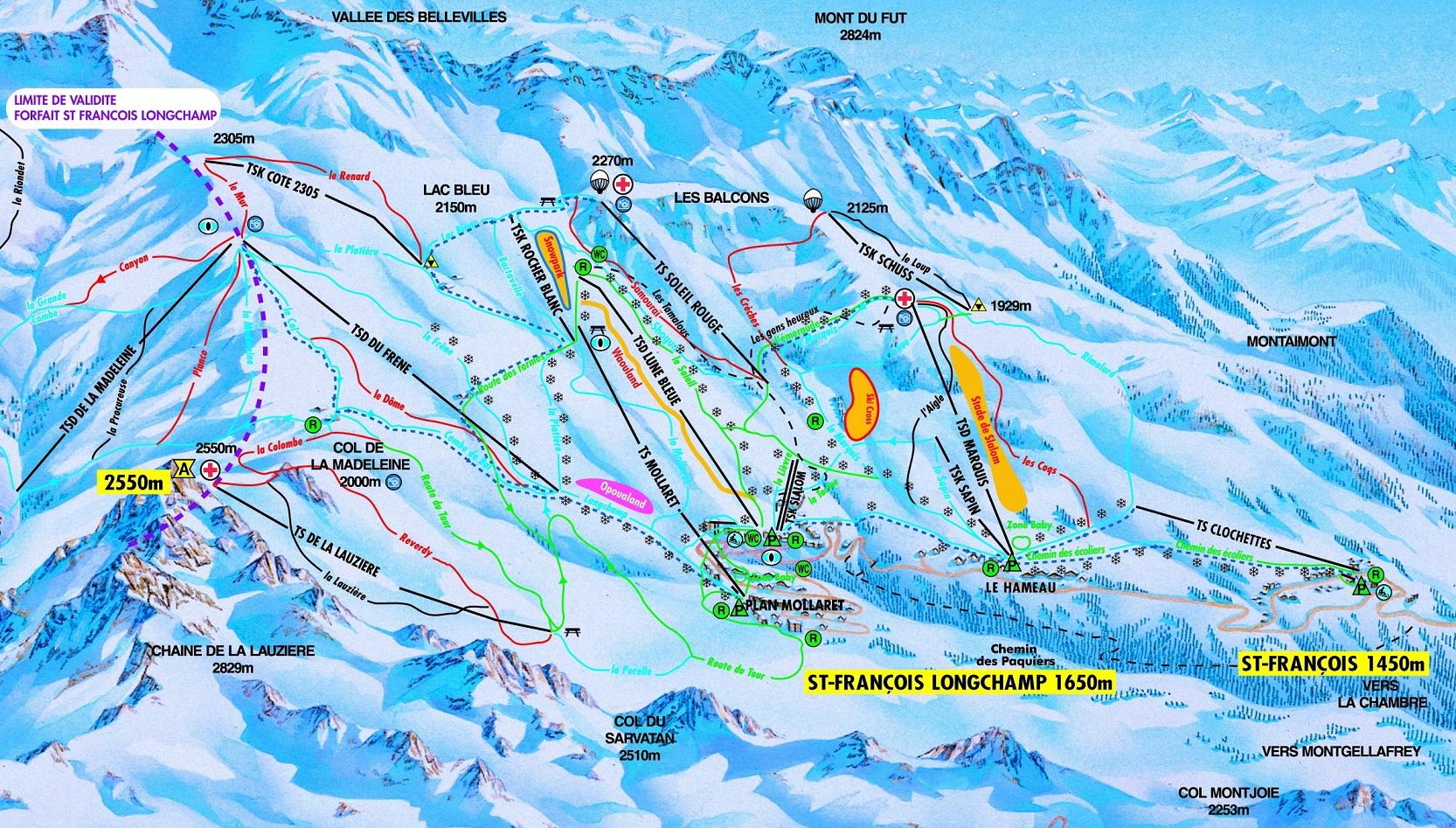 St.Francois-Longchamp ski resort airport transfers | Alps2Alps