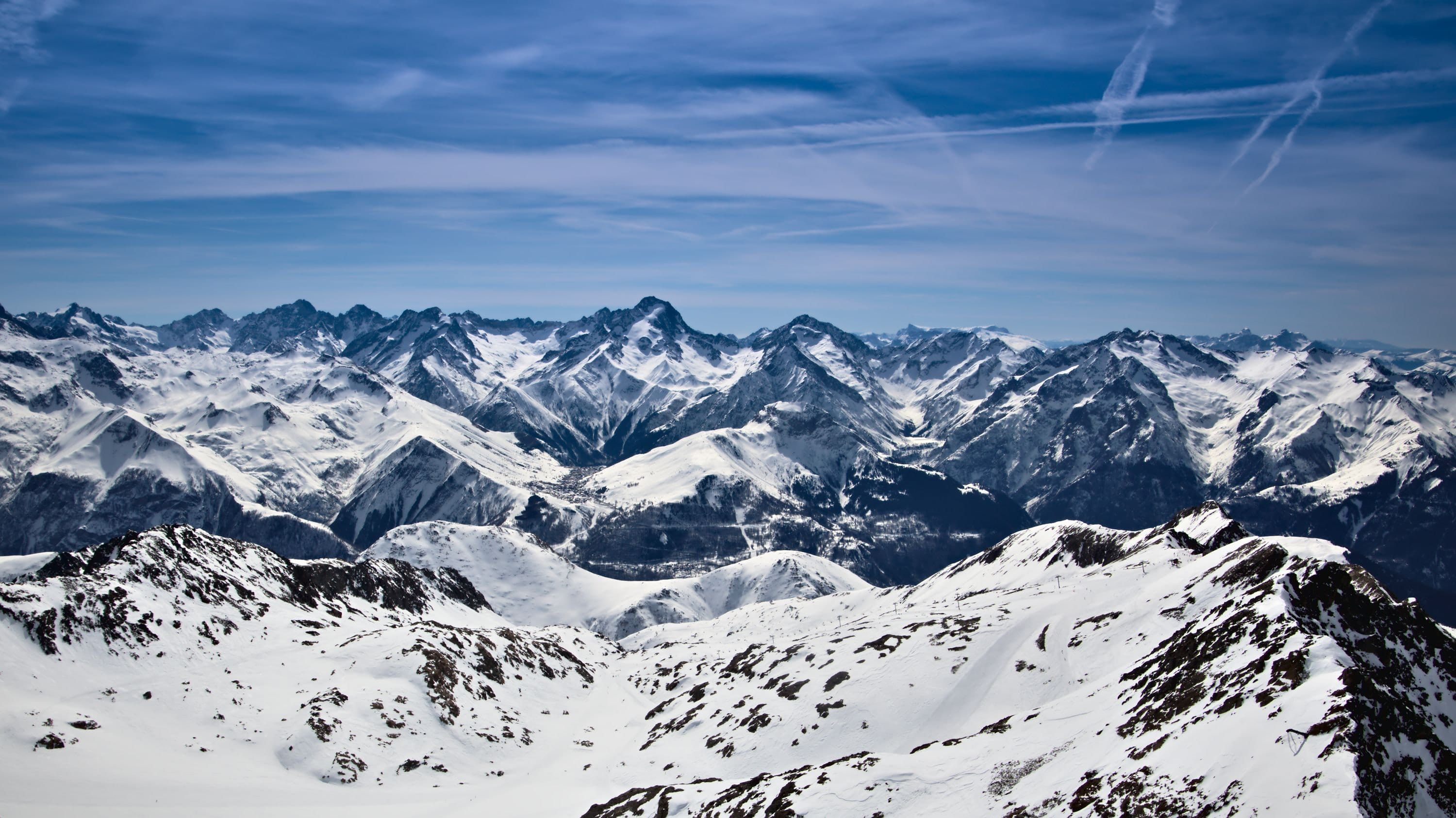 Snowy Mountains at Alpe d'Huez
