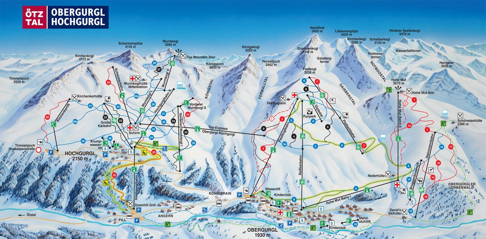 Map of Obergurgl-Hochgurgl pistes