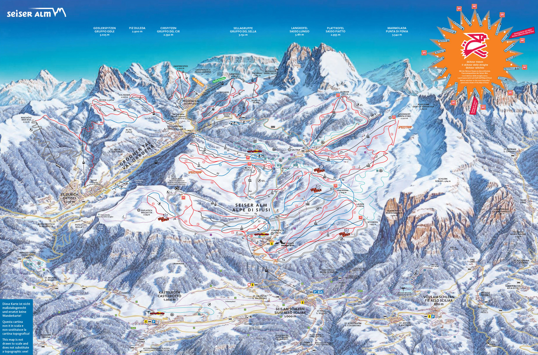 Piste Map Of Alpe Di Siusi