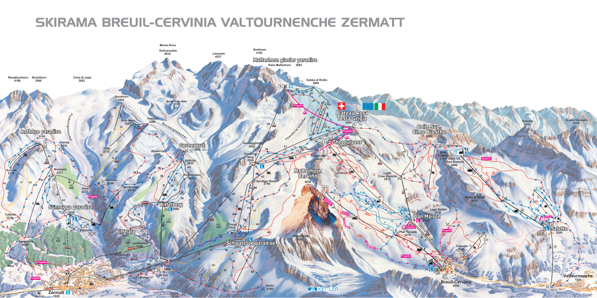 Map Of Breuil-Cervinia