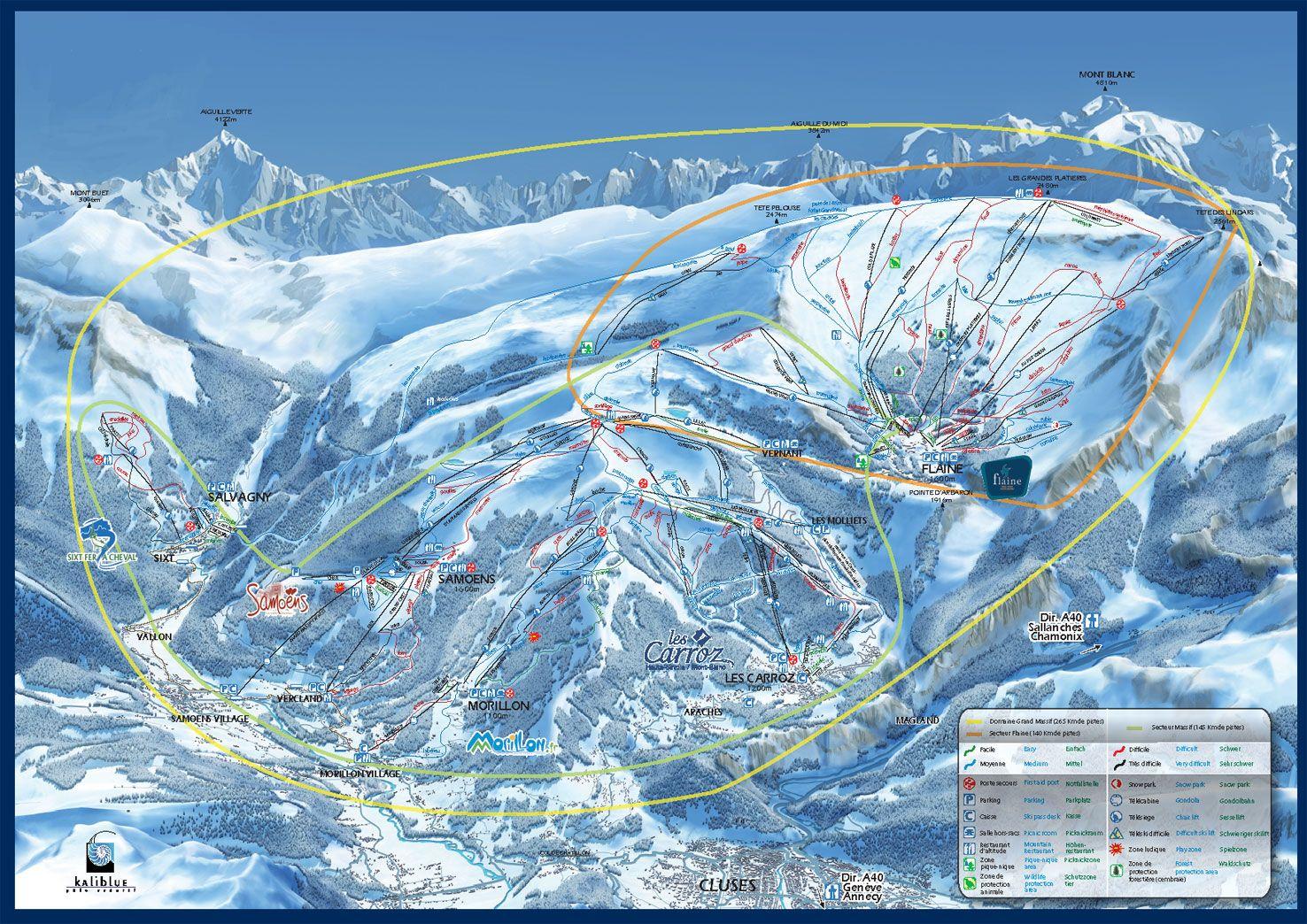 Flaine Piste Map