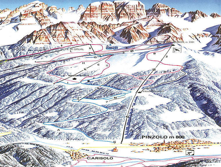 Pistes Map of Pinzolo