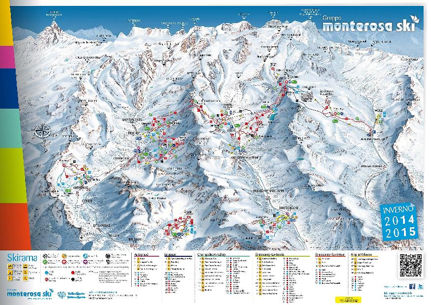 Pistes Map of Champoluc-monterosa