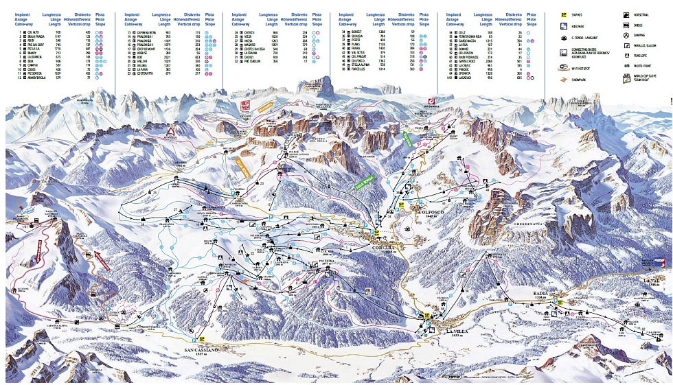 Map of Corvara Dolomiti SuperSki