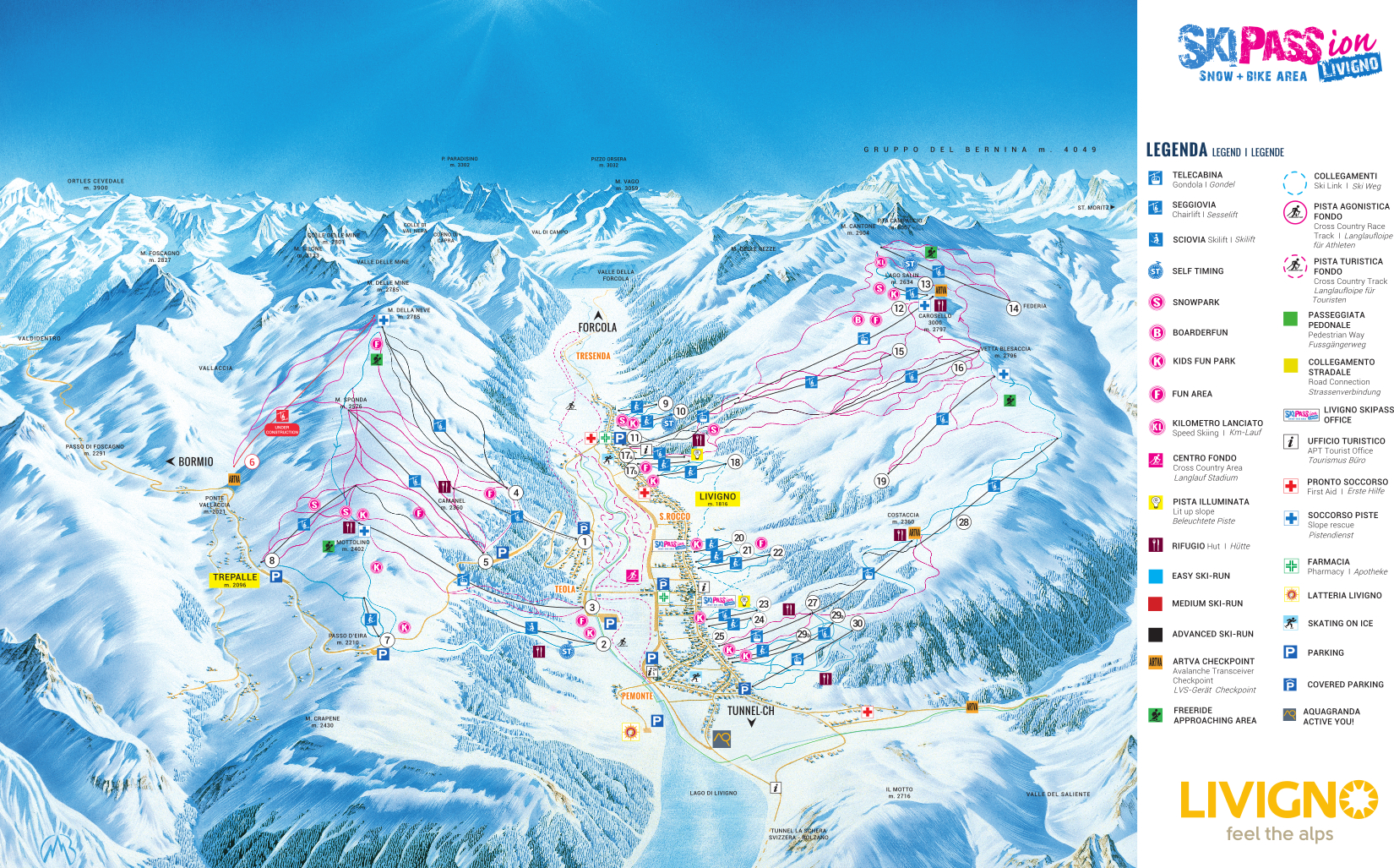 Pistes Map of Livigno