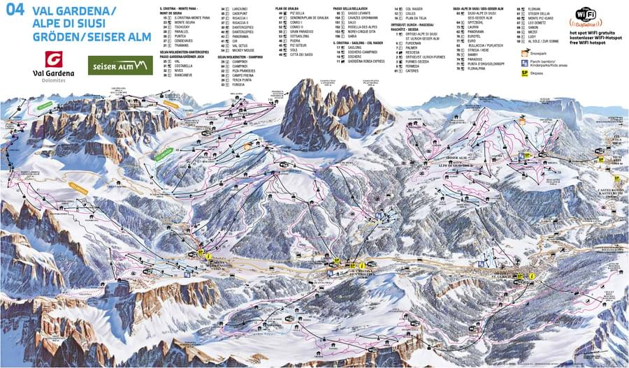 Map Of Val Gardena