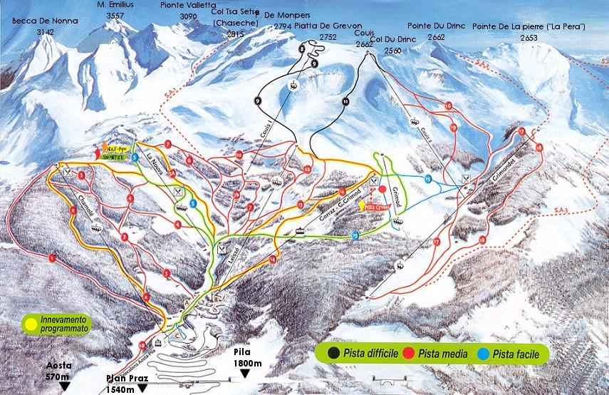 Pistes Map of Pila