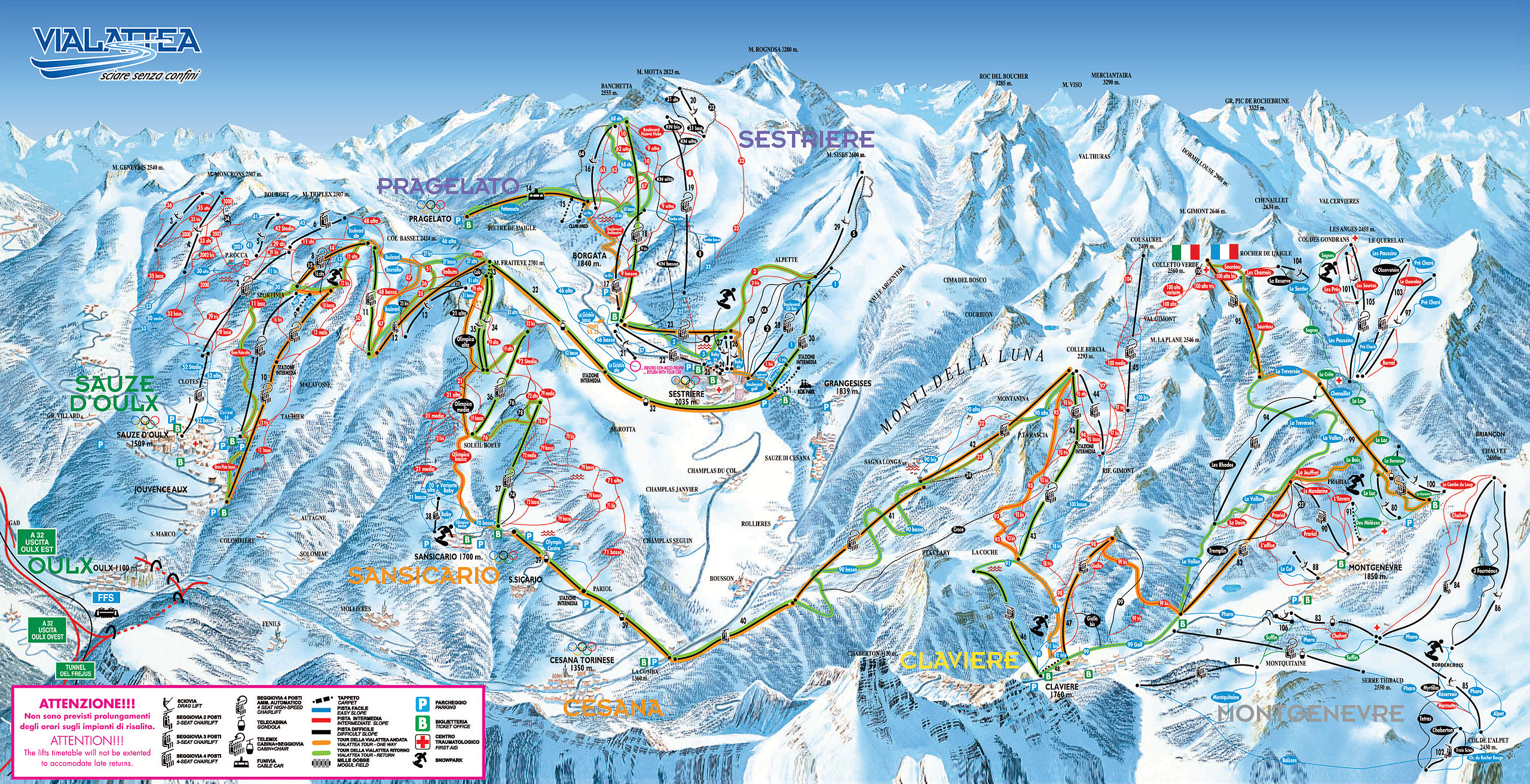 Map Of Sestriere