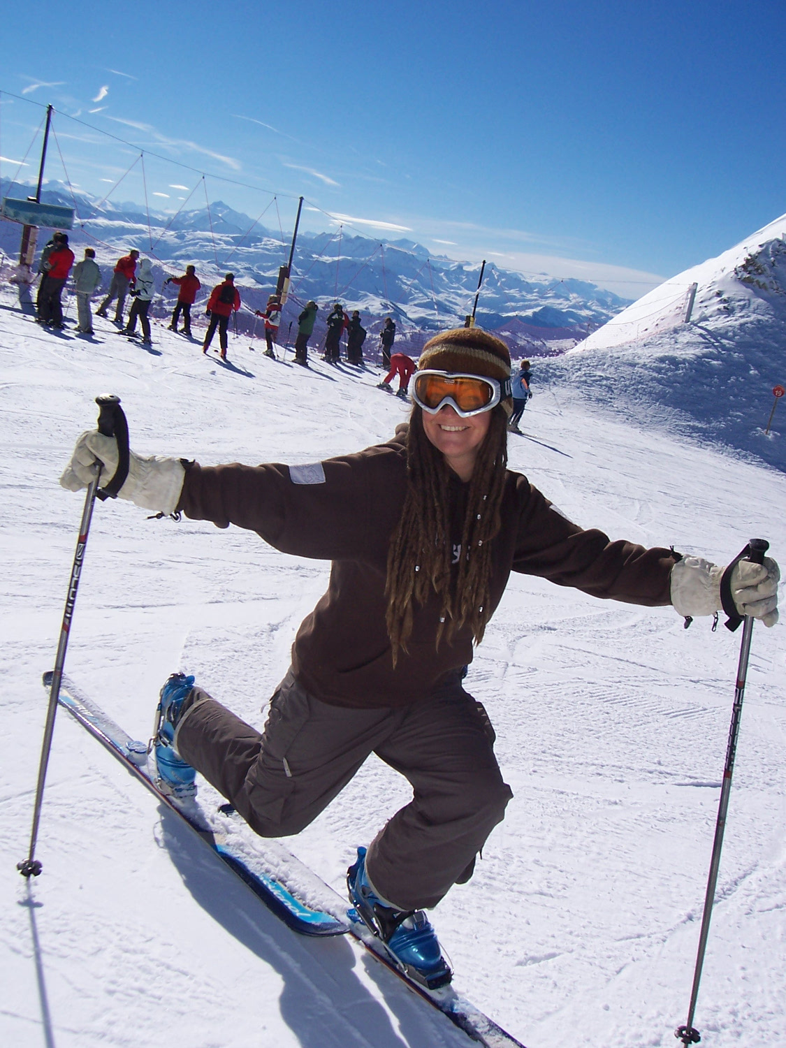 Wendy on the slopes
