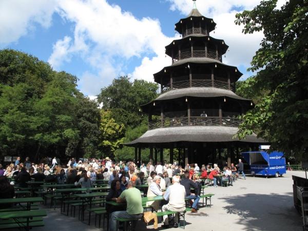Chinesischer Turm beer garden in Bavaria
