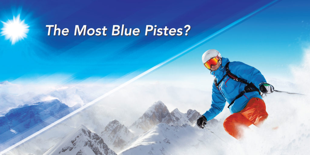 ski resorts most blue pistes