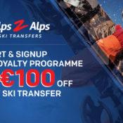 win 100 euros off ski transfer competition