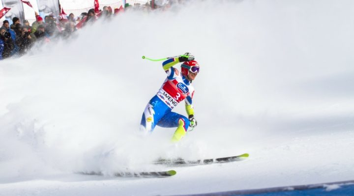Professional skier competing - what's happening in the Alps this December