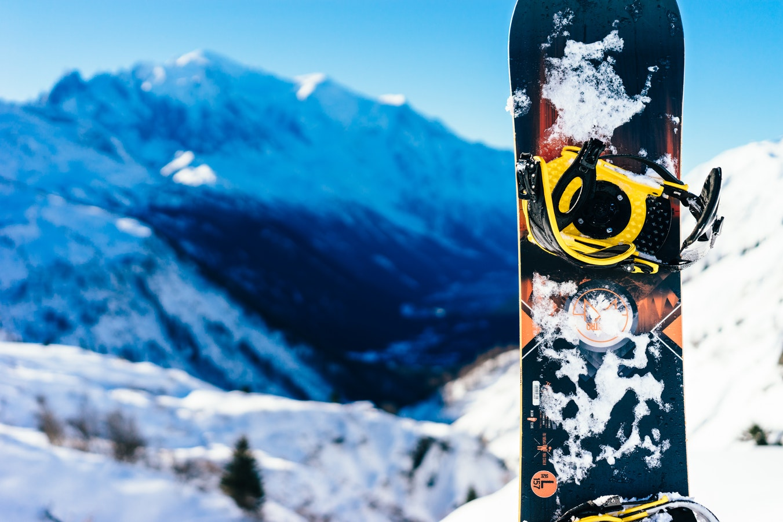 Snowboard on the mountain