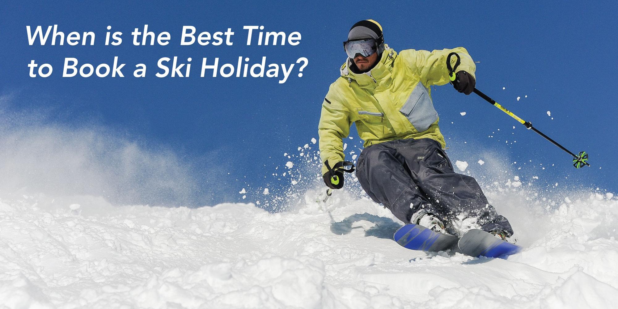 Skier going through thick snow