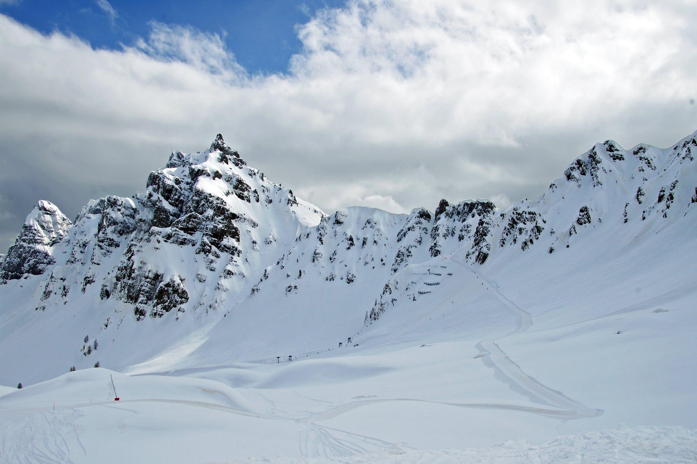 Crowd-free ski slopes