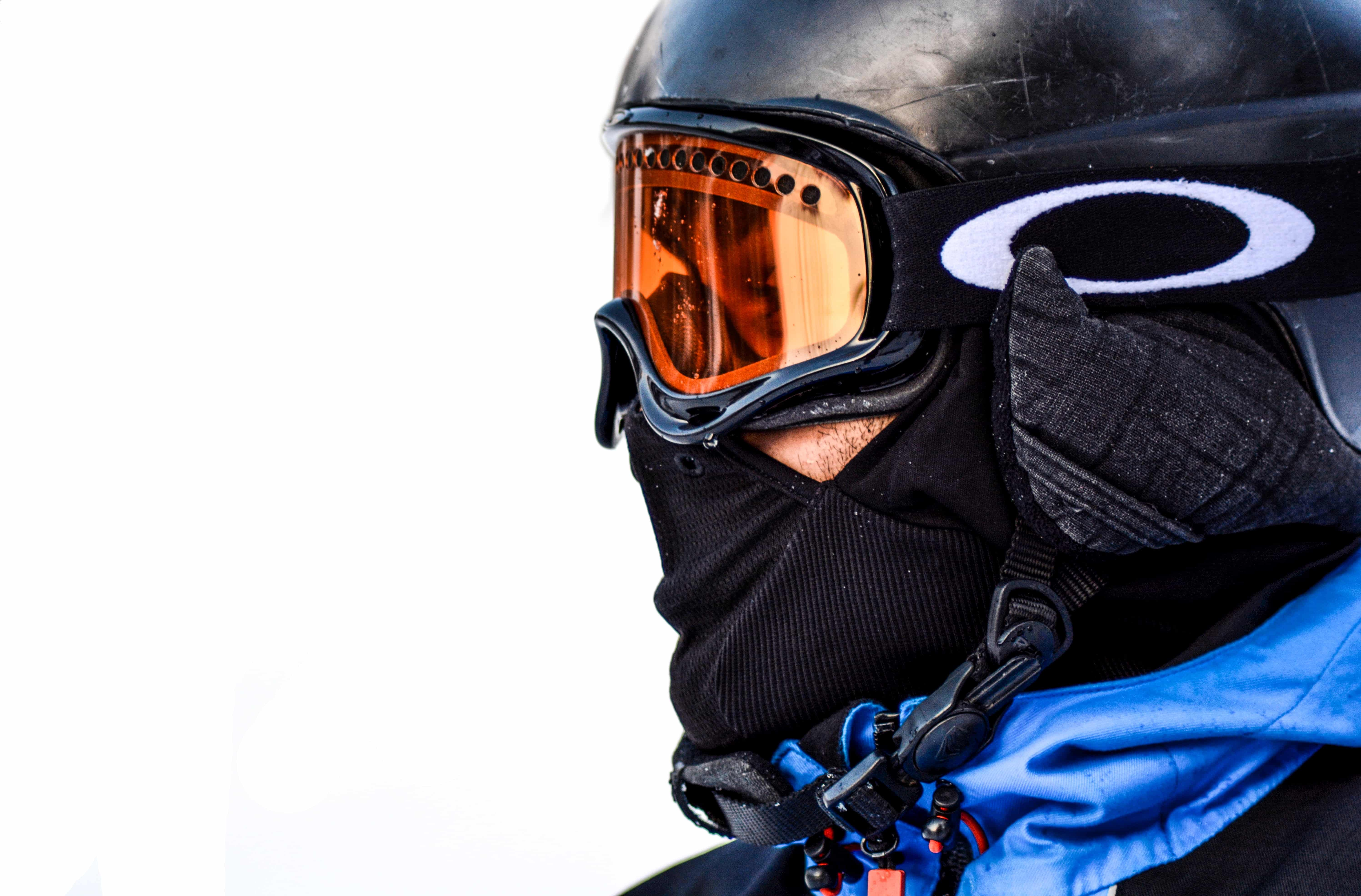 Close up of skier in goggles