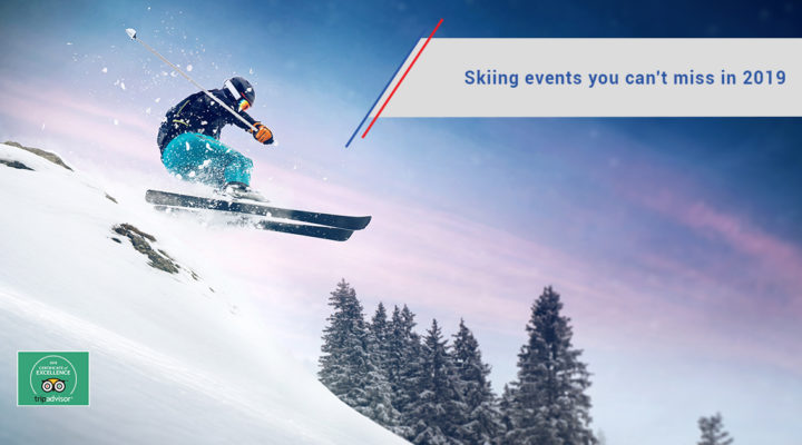 Skier jumping on the slopes