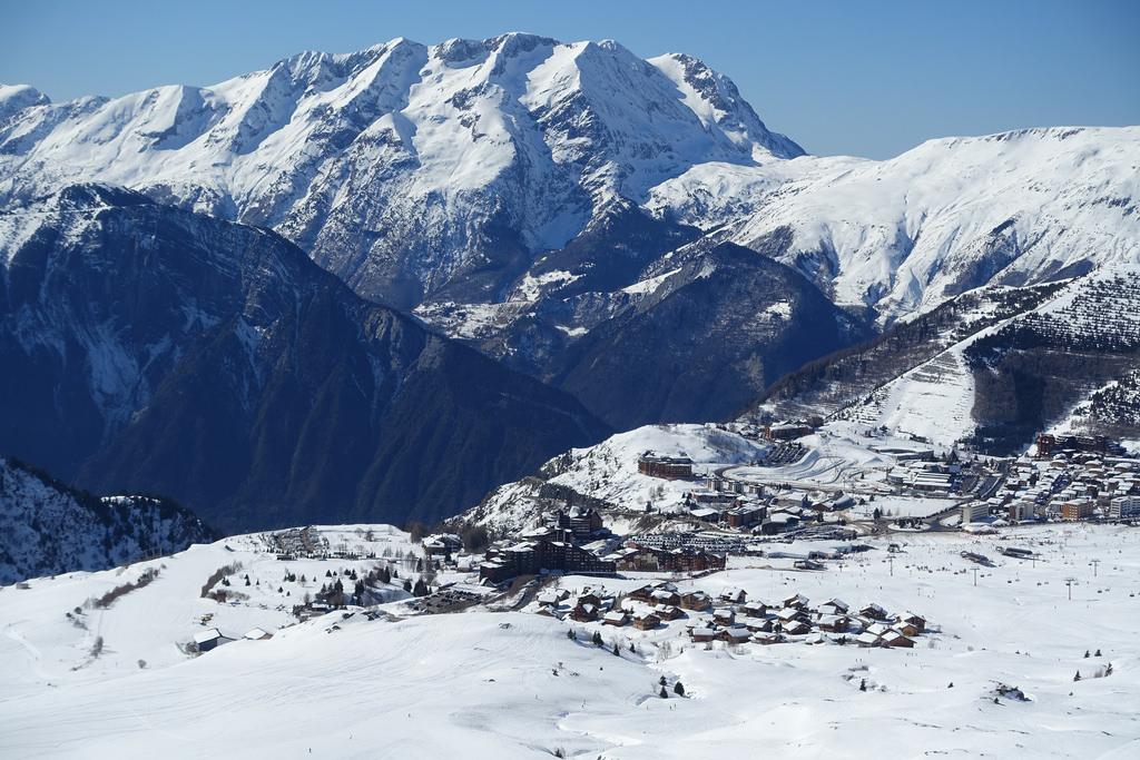 A birds eye view of Alpe d'Huez ski resort