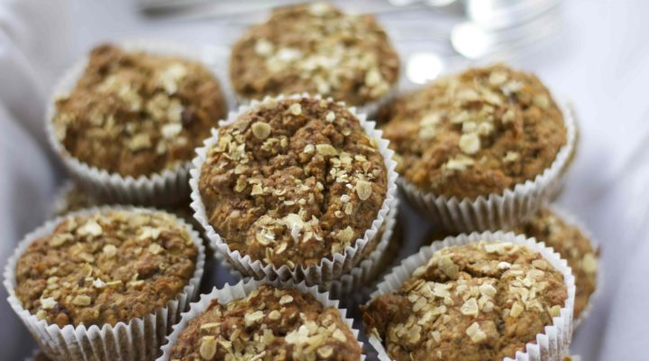 A close up of the powder day muffins