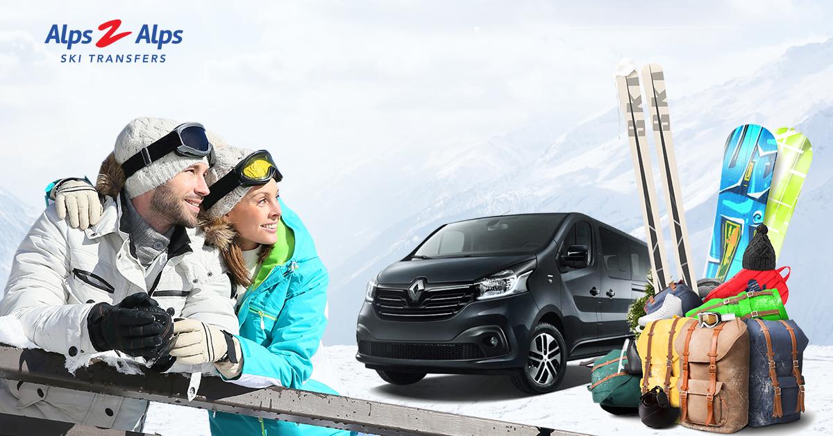 An Alps2Alps transfer car