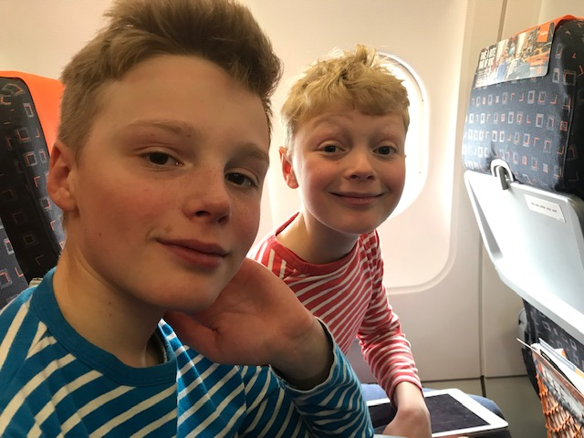 Martin and Claudia's family ski trip