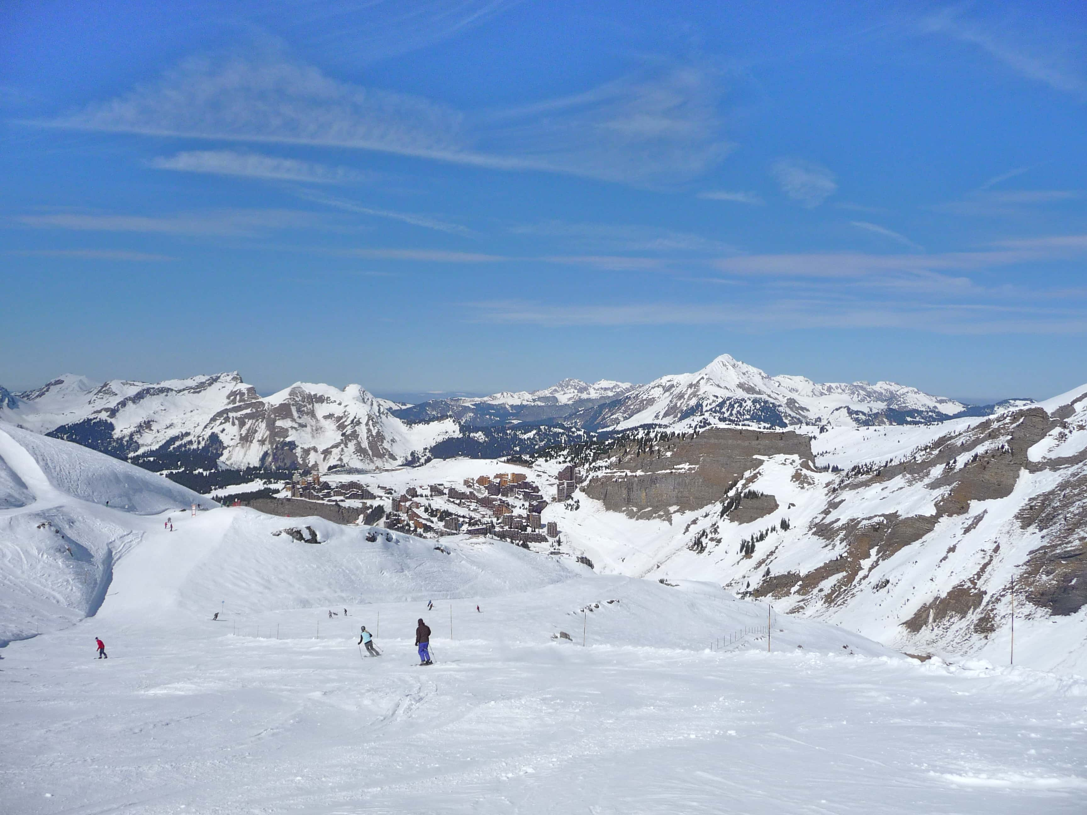 View of Avoriaz ski resort