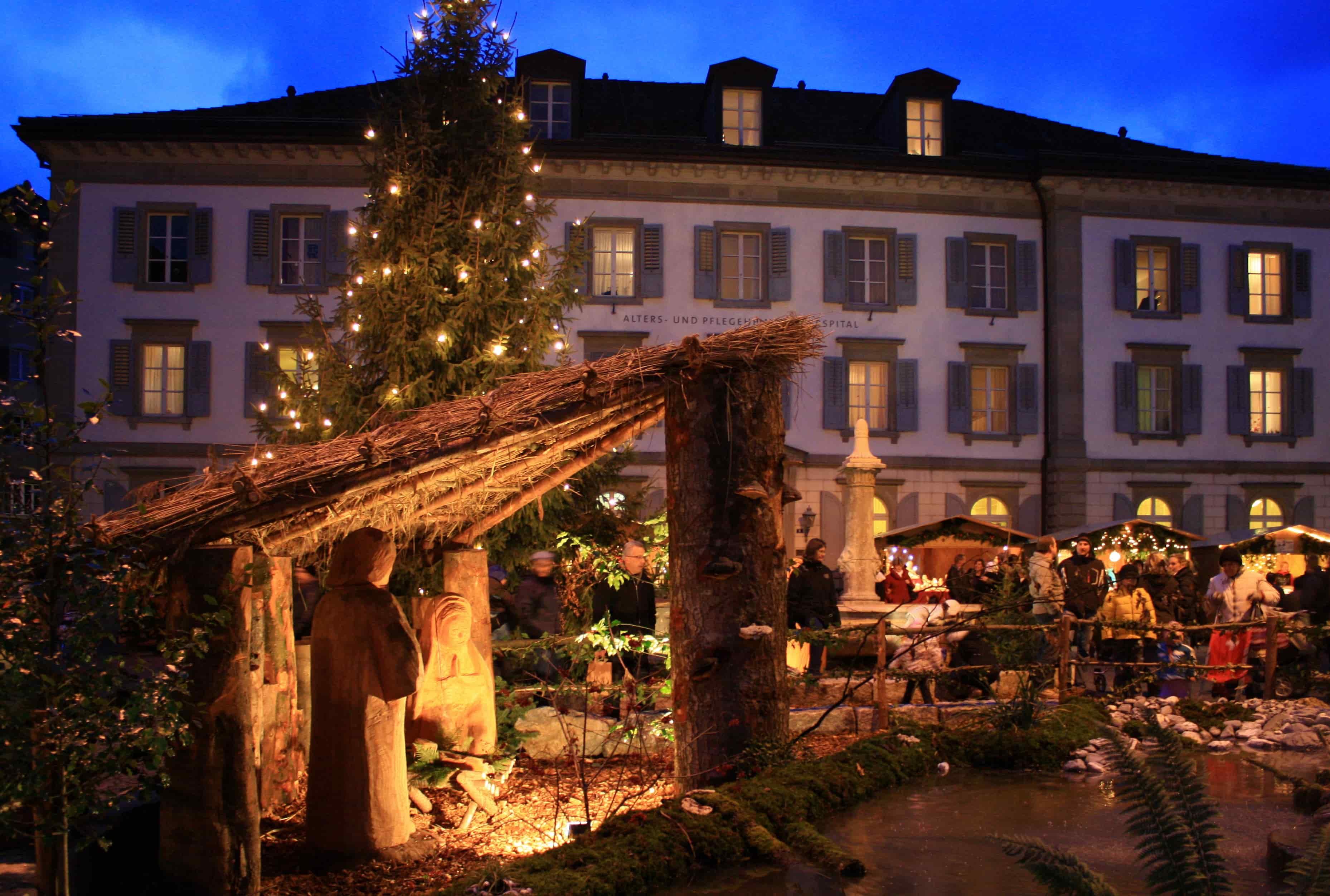 Christmas market in Switzerland
