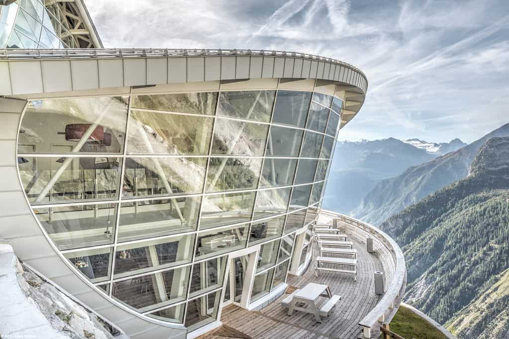 SkyWay restaurant in Courmayeur