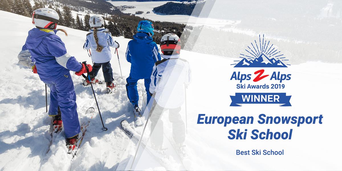 Best ski school with children skiing