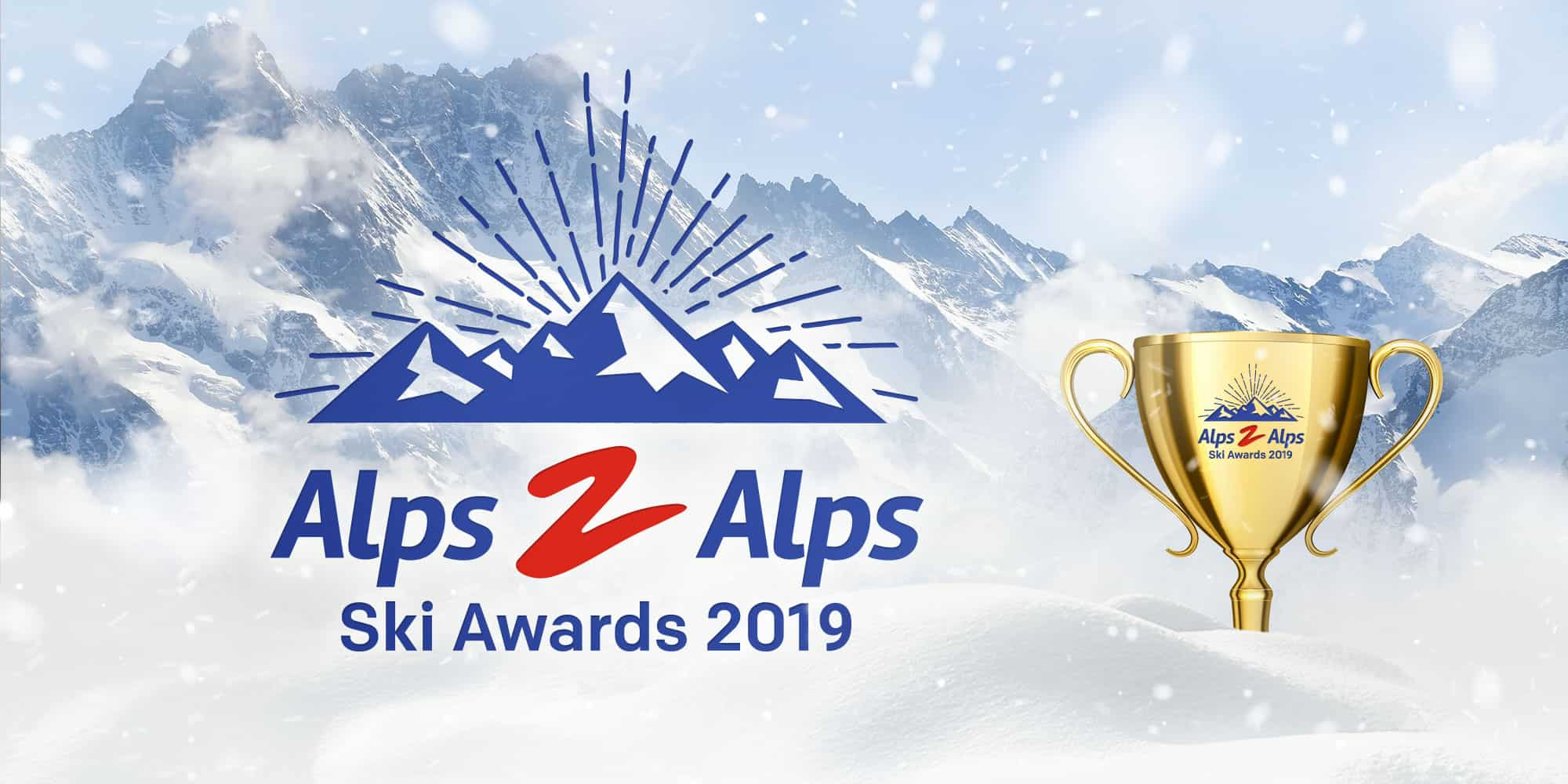 The Alps2Alps ski awards banner