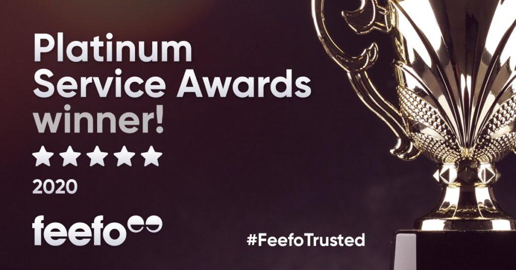 Platinum Feefo Service Award Winner Banner